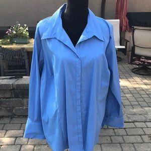 Sky blue long sleeve dress top